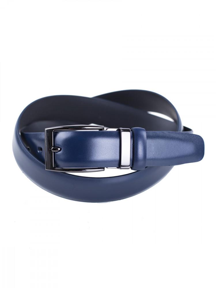 Zapana Pánský kožený opasek Satyr tmavě modrý