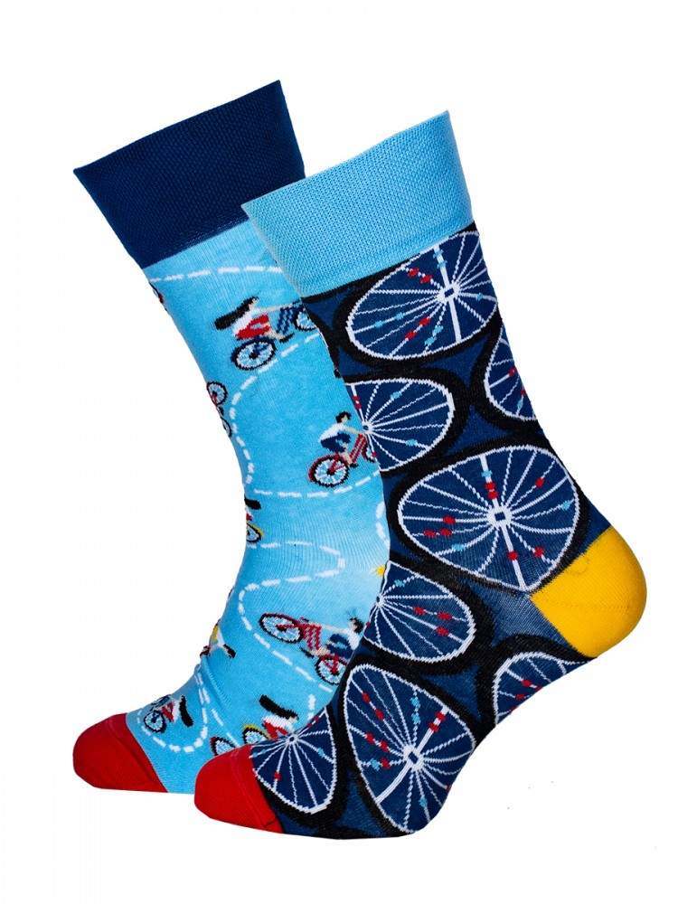 Mens Socks Bicycles Blue Size 39-42