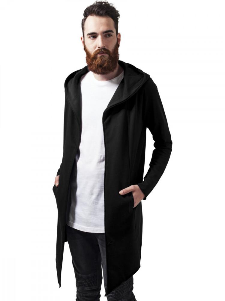 Urban Classics Pánský cardigan s kapucí Tortuga černá