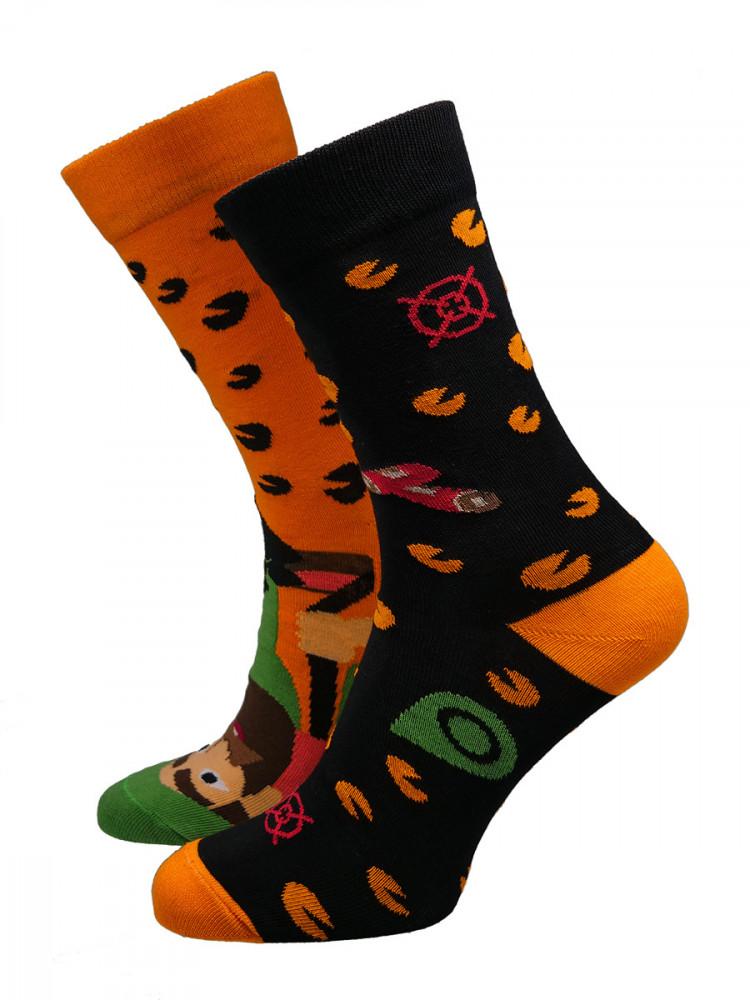 Hesty Socks Pánské ponožky Hunter oranžovo-černé