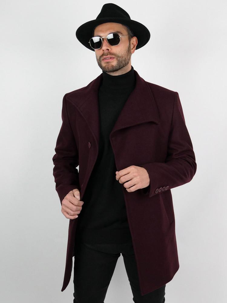 Zapana Pánský tříčtvrteční kabát Garner bordó