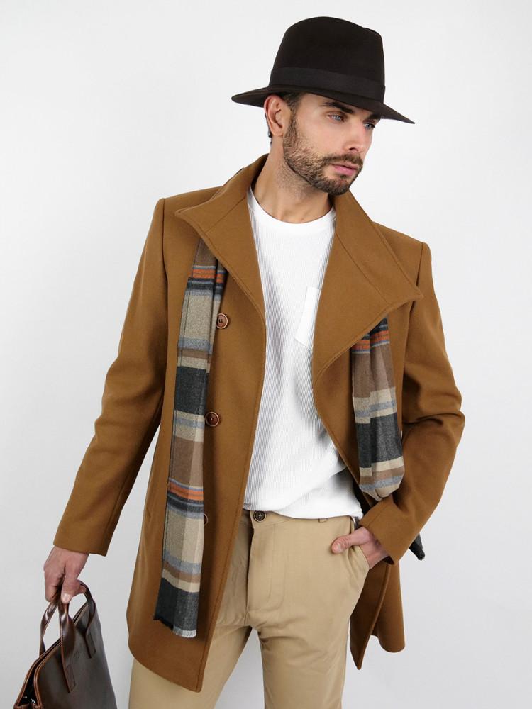 Zapana Pánský vlněný kabát Lenard