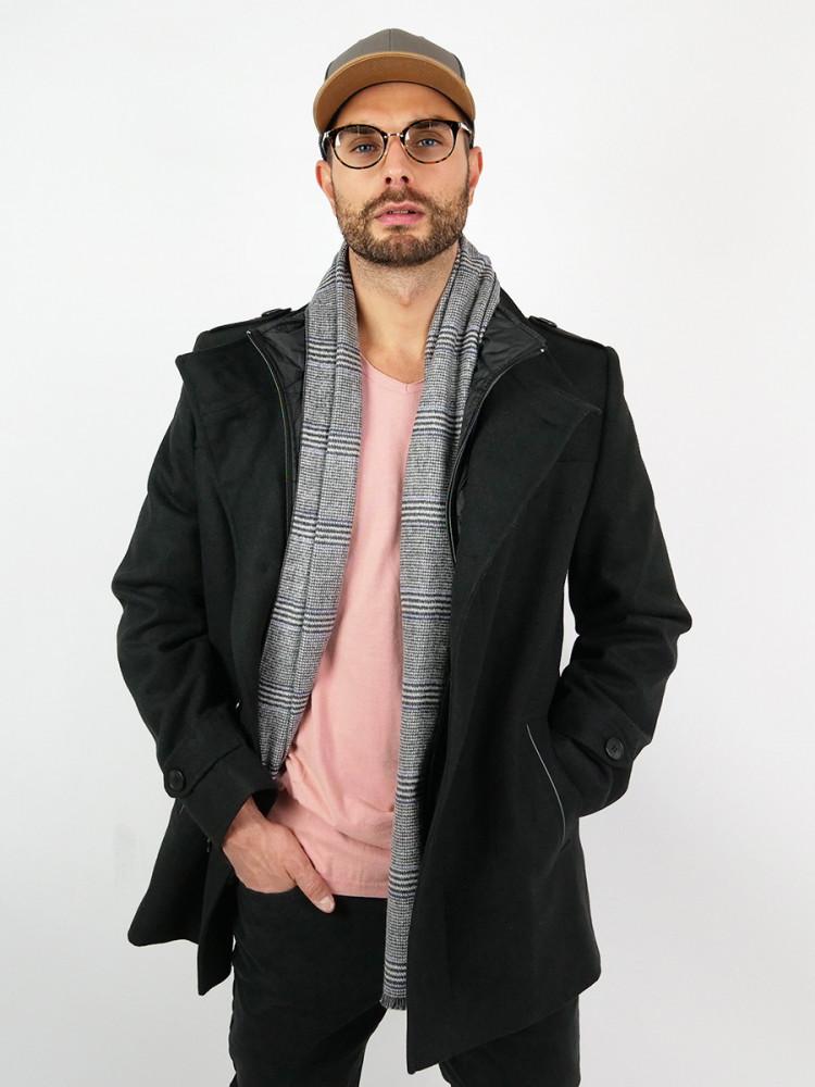 Zapana Pánský vlněný kabát Octave