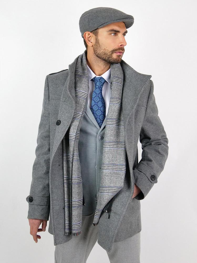 Zapana Pánský společenský vlněný kabát Percy
