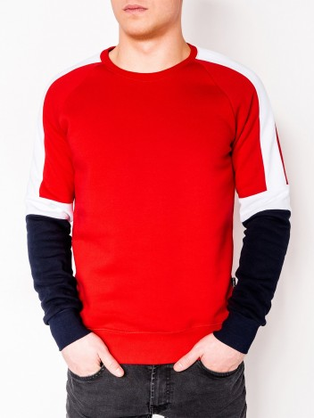 Ombre Clothing Pánská mikina Westin červená