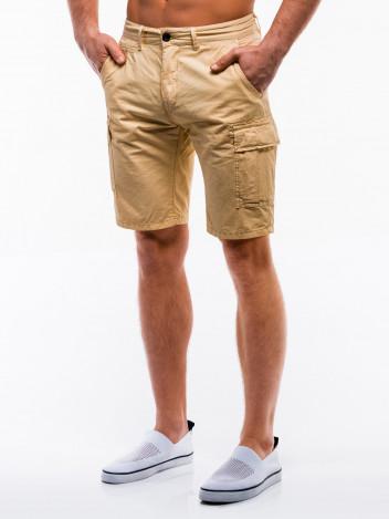Ombre Clothing Pánské kapsáčové kraťasy Grit béžové