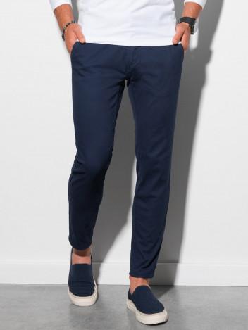Ombre Clothing Pánské trendy tmavě modré chino kalhoty Daedalus