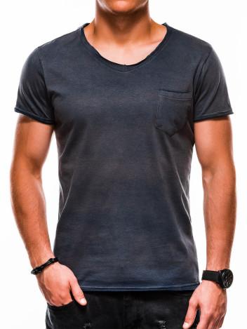 Pánské tričko bez potisku Lukhain tmavě modré