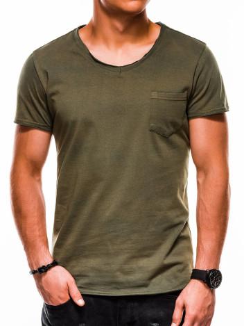 Pánské tričko bez potisku Lukhain zelené