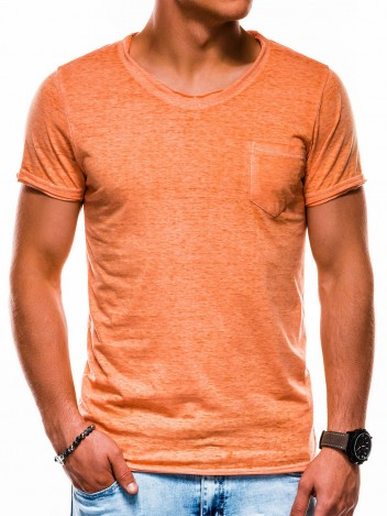Pánské tričko bez potisku Hodge oranžové