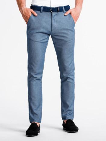 Pánské chinos kalhoty Luguen nebesky modré