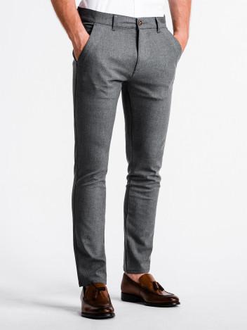Pánské chinos kalhoty Winston šedé