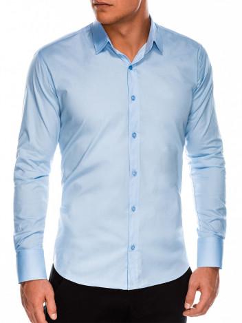 Pánská elegantní košile s dlouhým rukávem Supreme světle modrá