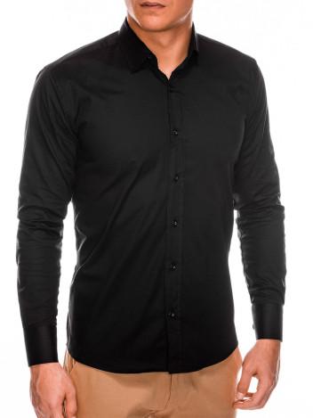 Pánská elegantní košile s dlouhým rukávem Supreme černá