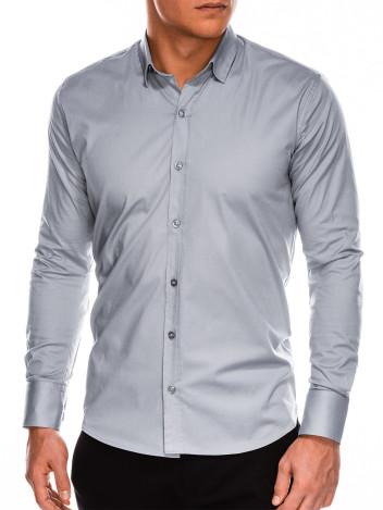 Pánská elegantní košile s dlouhým rukávem Supreme šedá