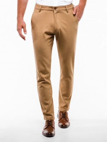Pánské chinos kalhoty Winston světle hnědé