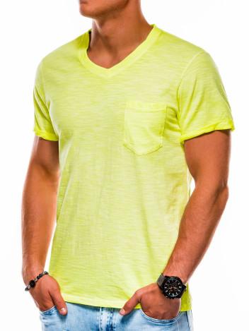Pánské basic tričko Foley žluté