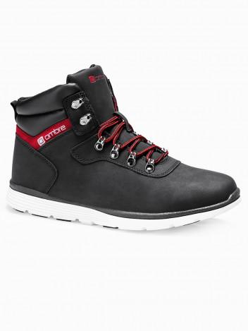Ombre Clothing Pánské zimní boty Lawes černé