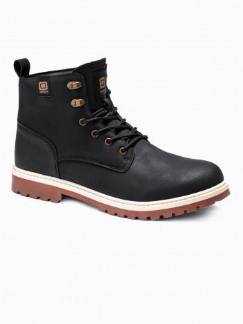 Ombre Clothing Pánské zimní boty Hill černé
