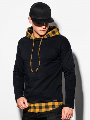 Ombre Clothing Pánská mikina s kapucí Shevon černá