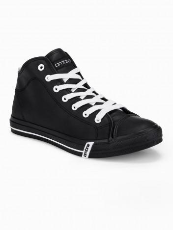 Ombre Clothing Pánské kotníkové tenisky Gattas černé