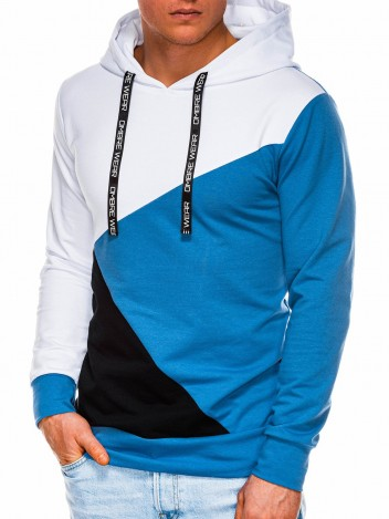 Ombre Clothing Pánská mikina Gafford modrá