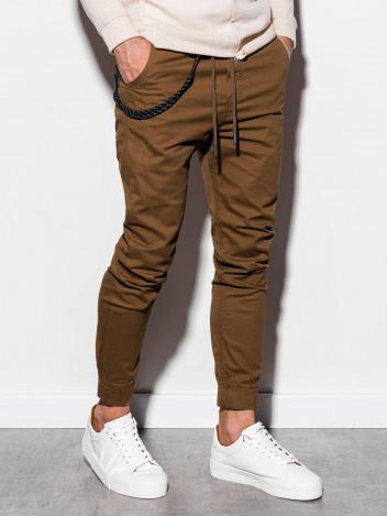 Pánské jogger kalhoty Cowal hnědé