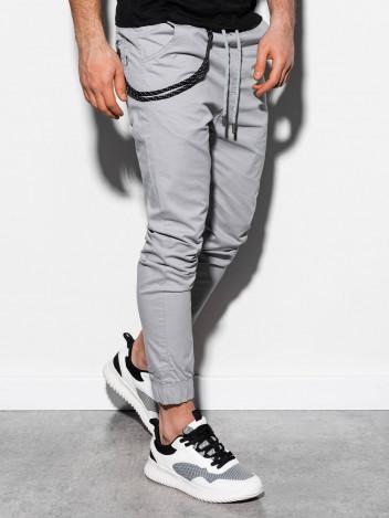 Pánské jogger kalhoty Cowal světle šedé