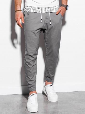Ombre Clothing Pánské jogger kalhoty Jordie šedé