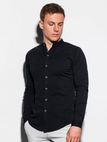 Ombre Clothing Pánská košile Healy černá