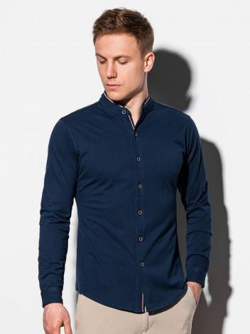 Ombre Clothing Pánská košile Healy navy