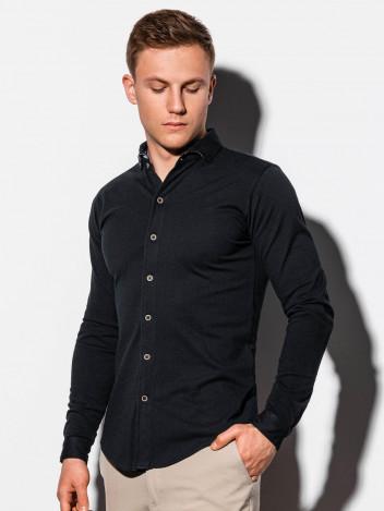 Ombre Clothing Pánská košile Earls černá