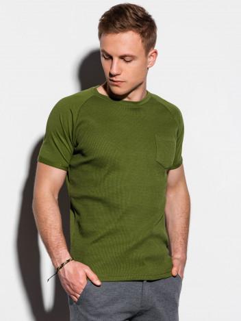 Pánské basic tričko Henshaw olivové