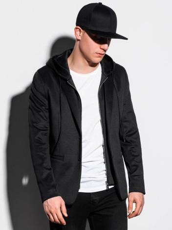 Ombre Clothing Pánské sako Halsey černé