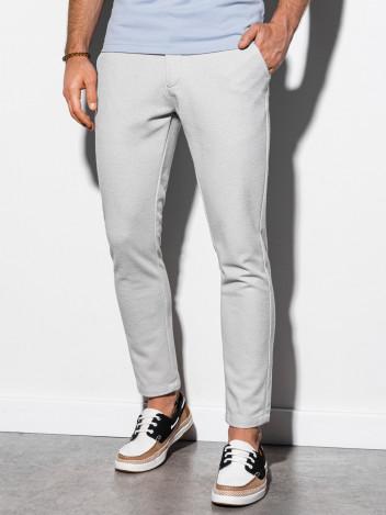 Pánské chinos kalhoty Bonasera světle šedá