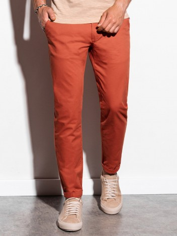 Pánské chinos kalhoty Ellis cihlově červená