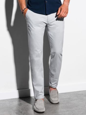 Pánské chinos kalhoty Ellis světle šedá
