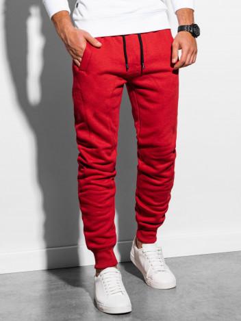 Ombre Clothing Pánské tepláky Stylo červená