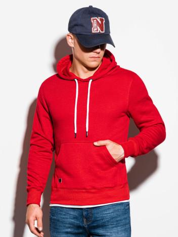 Ombre Clothing Pánská mikina s kapucí Kael červená