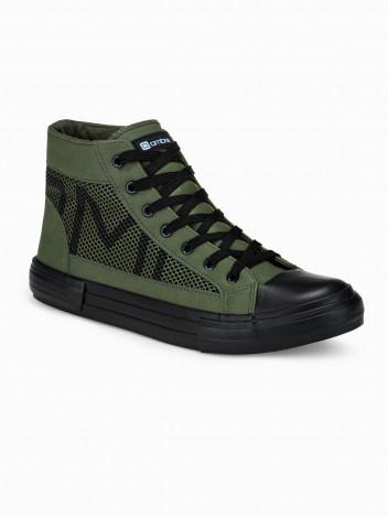 Ombre Clothing Pánské kotníkové boty Harrison khaki
