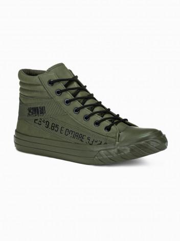 Ombre Clothing Pánské kotníkové boty Patrick khaki