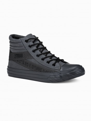 Ombre Clothing Pánské kotníkové boty Patrick tmavě šedá