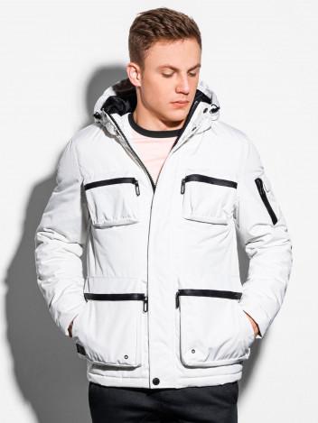 Pánská zimní prošívaná bunda Bohater bílá