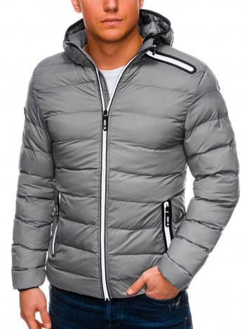 Pánská zimní prošívaná bunda Elias šedá