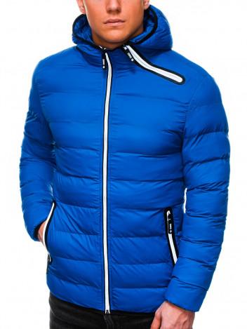 Pánská zimní prošívaná bunda Elias modrá