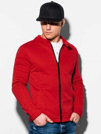 Pánská mikina na zip Matteo červená