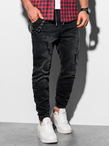 Pánské džínové jogger kalhoty Leslaw černá