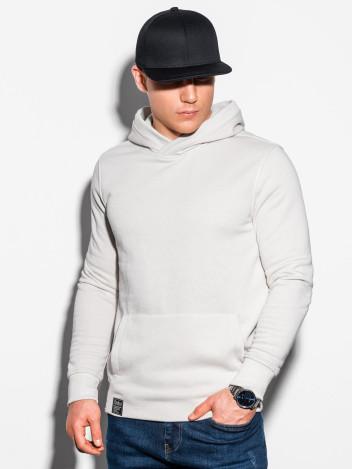 Ombre Clothing Pánská mikina s kapucí Hermann ecru