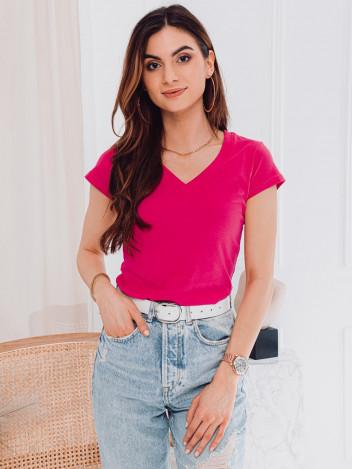 Edoti Dámské basic tričko Casilda růžová
