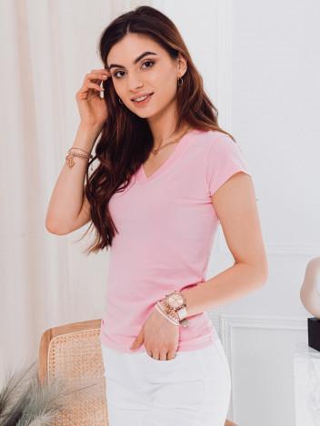 Edoti Dámské basic tričko Casilda světle růžová